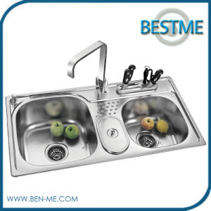 Competitive Built-in Drainboard Kitchen Sinks Stainless Steel (BS-950) pictures & photos