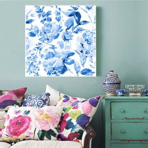 Modern Street Wall Decor Blue Trees Canvas Print pictures & photos