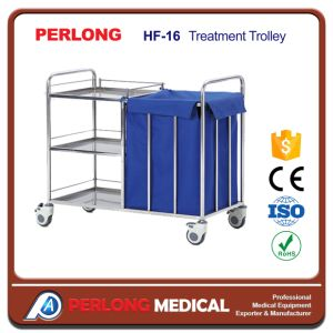 Hot Selling Stainless Steel Treatment Trolley Hf-16 with Low Price pictures & photos