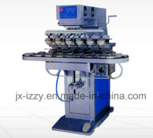 6-Color Rotation Pad Printing Machine