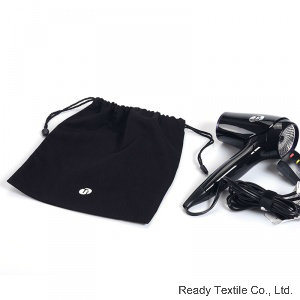 Black 100% Cotton Drawstring Bag Storage Bag for Hair Drier pictures & photos