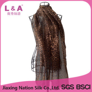 Leopard-Print Polyester Long Scarf Women pictures & photos