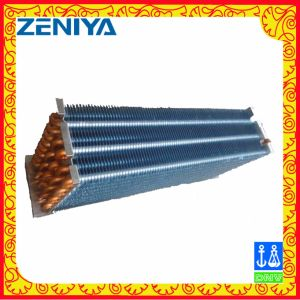 Efficiency Copper Tube Copper Fin Condenser Coil for Air Conditioning Outdoor Unit pictures & photos