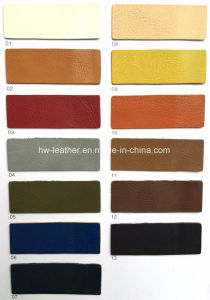 Polished Synthetic PU Leather for Shoes and Bags Hx-S1711 pictures & photos