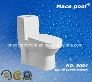 Popular Style Sanitary Wares Siphonic One-Piece Toilet Water Closet (8004) pictures & photos