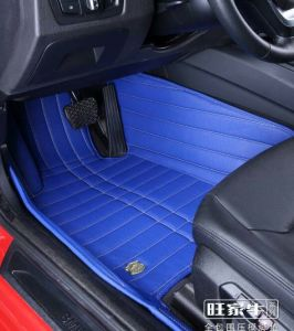 Car Mats 3D with Leatherette 5-Layer in Strips Embroidery pictures & photos