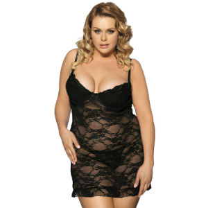 2017 New Arrivals See Throught Lace Women Plus Size Clothes pictures & photos