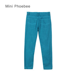 Phoebee Simple Skinny Plain Cotton Spring/Autumn/Winter Pants for Girls pictures & photos