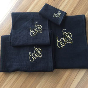 Cotton Waffle Bath Bathrobe and Bath Towel Set with Customized Color and Logo pictures & photos