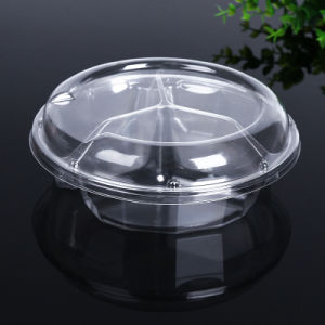 factory disposable pet round food container packaging fruit box pictures & photos