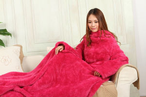 Good Quality Wearable Snuggie TV Blanket with Sleeve
