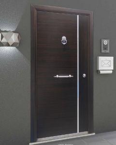Turkey Style Steel Wood Armored Door Simplified Door pictures & photos
