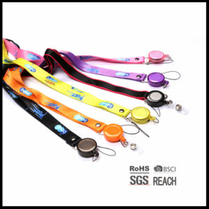 Merchandising Brand Custom Neck Polyester Fiber Lanyards with Logo Printed ID Card Holder pictures & photos