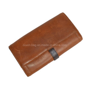 Cow Split Leather Made Wallet/ clutch pictures & photos