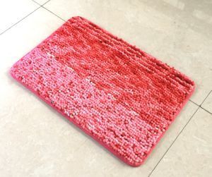 High Desity Printing Art Chenille Non-Slip Bath Mat pictures & photos