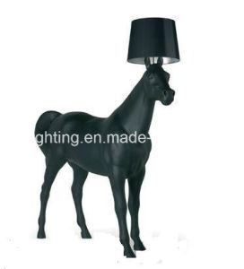 2017modern Standing Black Horse Floor Lamp for Hotel/ Reception Room Project pictures & photos