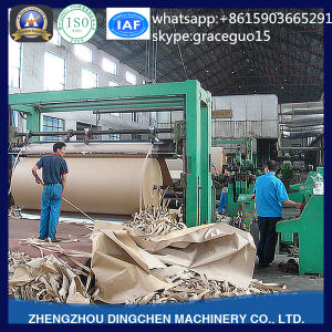 Engineer Available Overseas 3200mm Kraft Corrugated Paper Carton Paper Production Line Used Paper Recycling Machine pictures & photos
