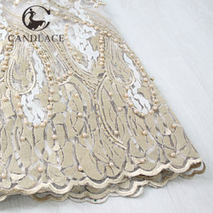 Newest Designs French Net Lace Fabric Tulle pictures & photos