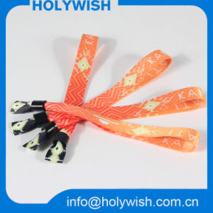 Custom Security Fabric Polyester Wristband RFID with Chip pictures & photos
