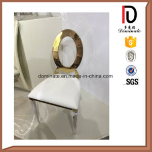 Modern Oval Back Wedding Rose Golden Hotel Restaurant Living Dining Room Furniture Stainless Steel Chair pictures & photos
