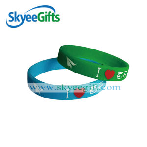 New Custom Print Silicone Wristband&Bracelet for Promotional Gift pictures & photos