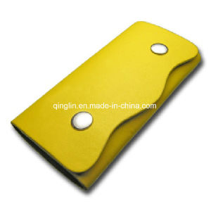 Custom Wave Shape Simple Yellow Genuine Leather Key Case/Bag (QL-YSB-0013) pictures & photos