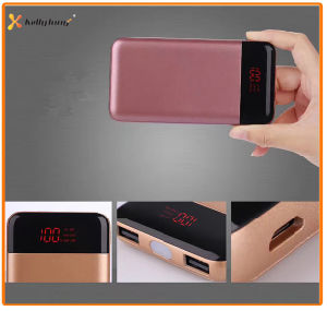 True Capacity Two Output LED Lamp Power Banks 10000mAh for Smart Phone, Portable Li-ion Battery pictures & photos