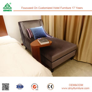 Three Stars Hotel Room Furniture Sets with Bed and Wardrobe pictures & photos