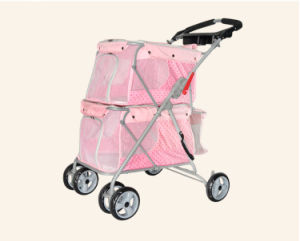 Strong 4-Wheels Double Layers Dog Outdoor Twins Pet Strollers pictures & photos