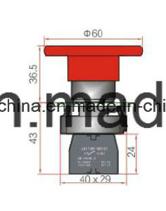 22mm Mushroom Type Push Button Switch (LA118KBM6) pictures & photos