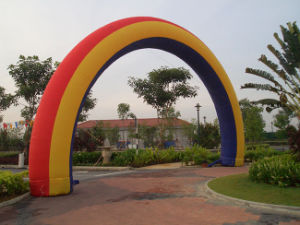 High Quality Advertising Rainbow Inflatable Arch for Outdoor