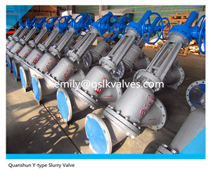 Worm Gear Flange Connection Y Pattern Globe Type Slurry Valve Js45y-16c pictures & photos