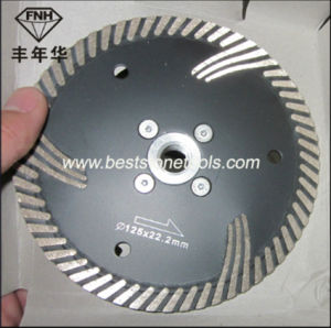 Turbo Diamond Cutting Blade with Protective Teeth for Granite Cutting