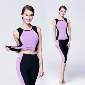 280GSM 85% Nylon 15% Spandex Women Sportswear Sports Suit pictures & photos
