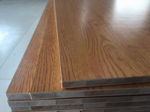 18mm Natural Veneer Red Oak Laminated Blockboard pictures & photos