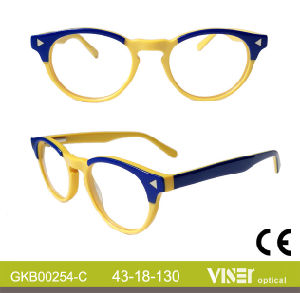 Kids Handmade Acetate Optical Frames with Ce (254-B) pictures & photos