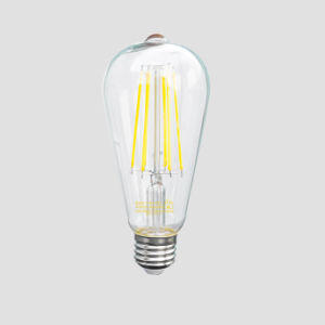 Glass LED Filament Light for Indoor and Bar (ST64) 4W 6W 9W