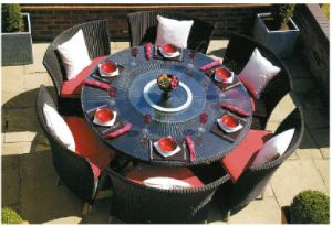 Rattan Garden Furniture Table Set for Outdoor