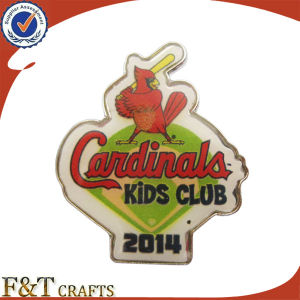Costomised Logo Printed Custom Badge with LED Light pictures & photos