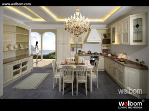 2015 New Welbom Oak Solid Wood Luxury Classic Kitchen Cabinets pictures & photos