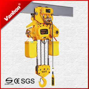 10 Ton Electric Chain Hoist with Electric Trolley Type (WBH-10004SE) pictures & photos