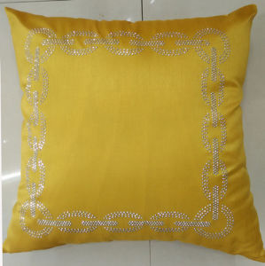 Hand-Made Decorative Pillow Diamond Ironing Decorative Cushion (XPL-59) pictures & photos
