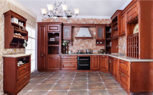 Solid Wood Kitchen Cupboard (zq-001) pictures & photos