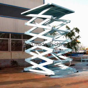 Hydraulic Cargo Lift/Goods Lift for Warehouse/Hydraulic Guide-Rail Lift pictures & photos