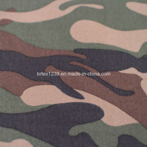 Cotton Twill Camouflage Fabric for Military Use (16X12/108X56) pictures & photos