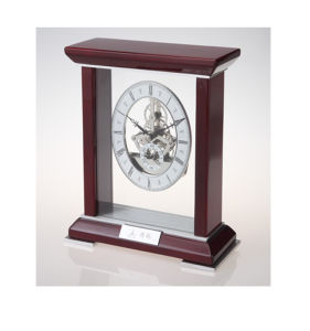 Super Luxury Business Home Decor Wooden Desk Clock K3044 Skeleton Clock Kit Souvenir pictures & photos