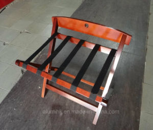 Hotel Wooden Luggage Rack with Back Bar pictures & photos