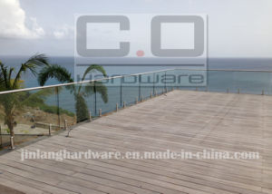 Balcony Frameless Glass Balustrade with Steel Channel pictures & photos
