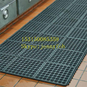Interlocking Antislip Hotel Rubber Floor, Rubber Kitchen Hole Matting pictures & photos