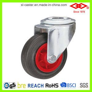 160mm Black Rubber Swivel Locking Castor Wheel (G102-31D160X40S) pictures & photos